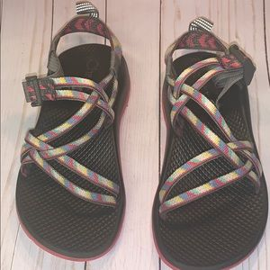 Chaco Multi Color Summer Sandals Sz 4